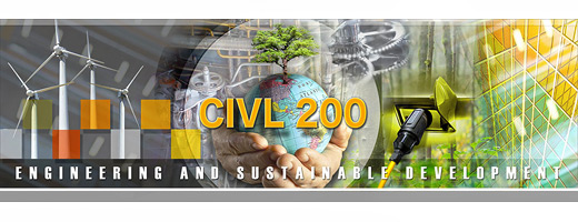 Engineering and Sustainable Development - CIVIL200
